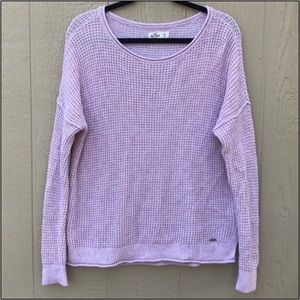 [Hollister] Blush Pink Knit Oversized Sweater M
